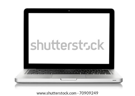 Laptop isolated on white, clipping path included #70909249