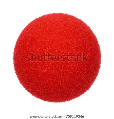 Clown nose on white background #709119346