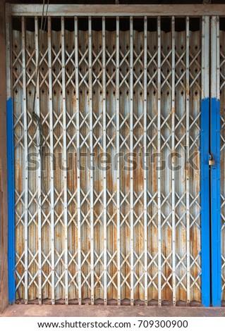 Old steel door texture and background #709300900