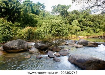 Water Fall in chanthaburi of thailand #709352767