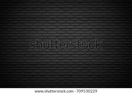 Black brick wall for background #709530229