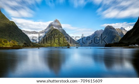 Milford Sound, New Zealand. Royalty-Free Stock Photo #709615609