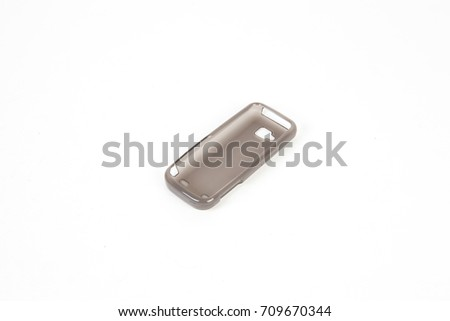 Phone case isolated on white background #709670344