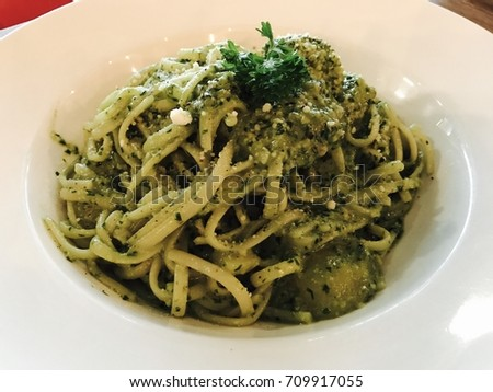 Pesto pasta #709917055