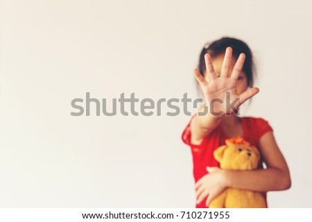 Stop abusing violence. terrified , A fearful child. End to violence against child #710271955