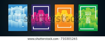 vector illustration. bright colorful design of the pattern from the wavy line. hipster design element ultramodern background for posters, cards, covers, flyers. new trend in advertising design #710301265