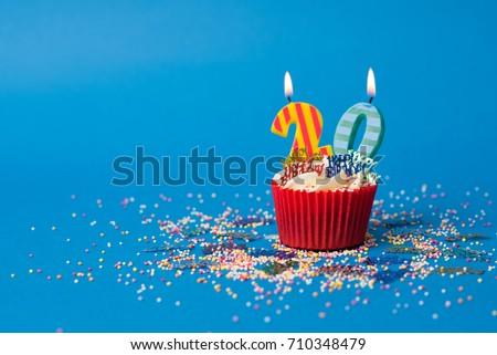 20th Birthday cupcake landscape Royalty-Free Stock Photo #710348479