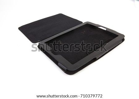 Tablet case isolated on white background #710379772