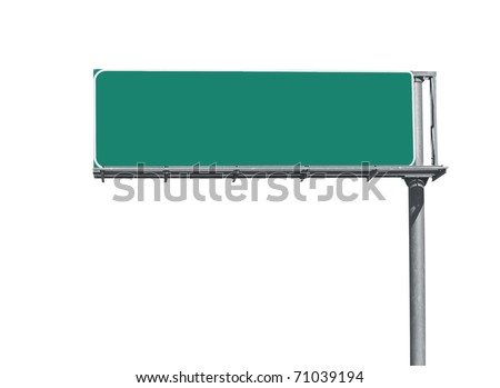 Blank overhead freeway directional sign background.