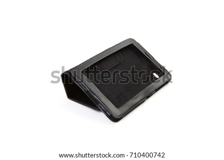 Tablet case isolated on white background #710400742