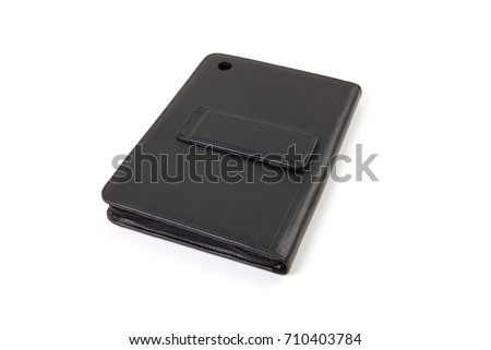 Tablet case isolated on white background #710403784