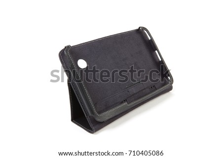 Tablet case isolated on white background #710405086