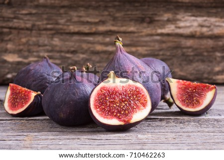 Ripe sweet figs . Healthy mediterranean fig fruit .  #710462263