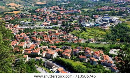 Landscape Seen from San Marino, Italy #710505745