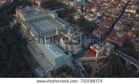 royal palace in madrid #710588374