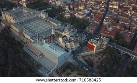 royal palace in madrid #710588425