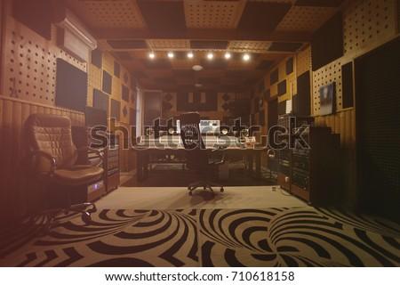 Interior of recording studio #710618158