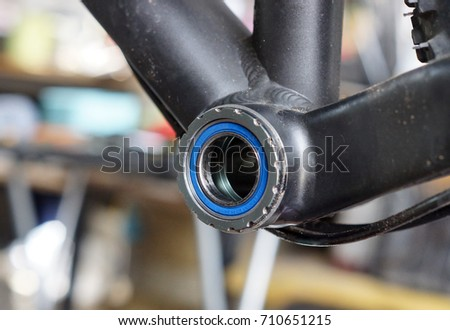 Mountain bike with bearing bottom brackets  #710651215