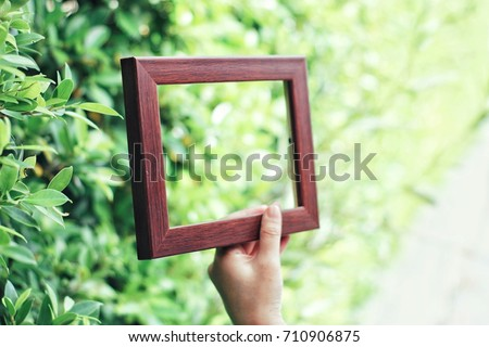 picture frame on the green background