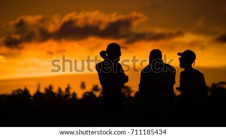 Sun Set in Dubai, United Arab Emirates #711185434