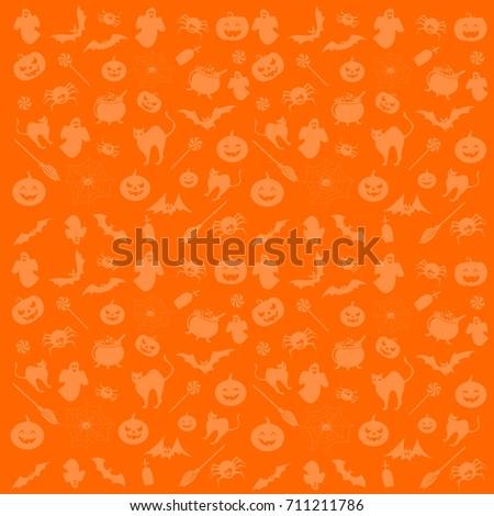 Halloween symbols for background