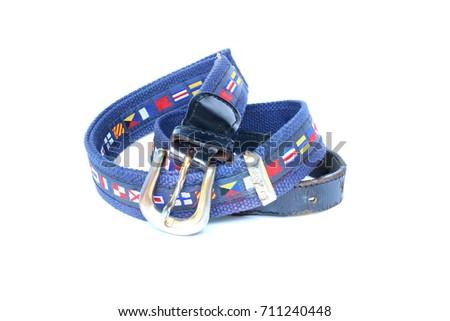 blue belt on isolated #711240448