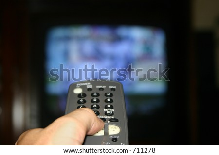 Remote pointed at tv #711278