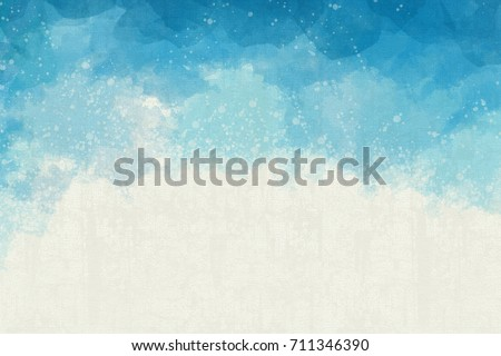 Blue Texture Watercolor Abstract Background