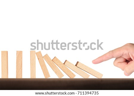 stop a dominoes continuous toppled #711394735