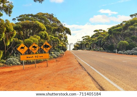 Crossing the Nullarbor Royalty-Free Stock Photo #711405184