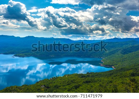 Slansko lake, Niksic, at the foot of Mount Trebjesa, Montenegro. #711471979