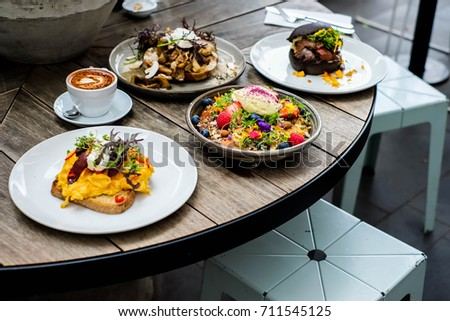 Australian lunch style at The Kettle black cafe #711545125