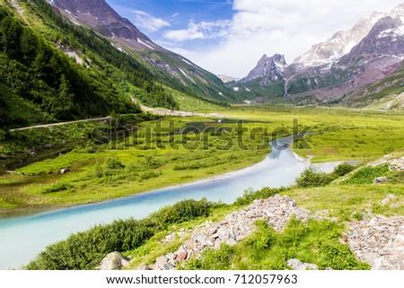 Valle d'Aosta landscape in summer #712057963