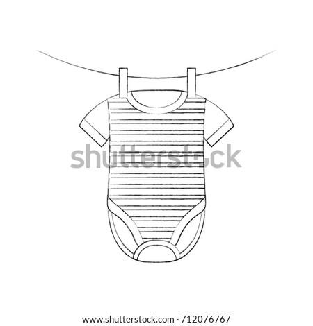 baby shower clothes hanging line celebration #712076767