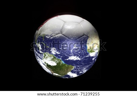 Earth and Leather soccer ball #71239255