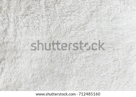Synthetic fur white texture for the background Royalty-Free Stock Photo #712485160