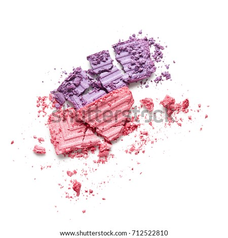 Pink and purple eye shadow isolated on white background #712522810