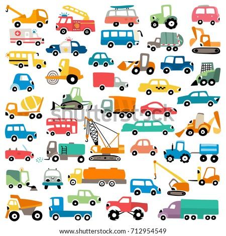 Cartoon cars collection