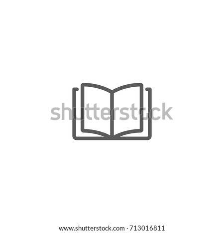 Reading line icon, Vector on white background