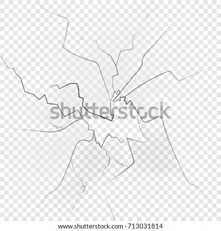 Broken glas isolated on transparent background. Vector illustration. Eps 10.