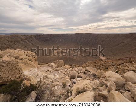 Meteor crater in Arizona, USA #713042038