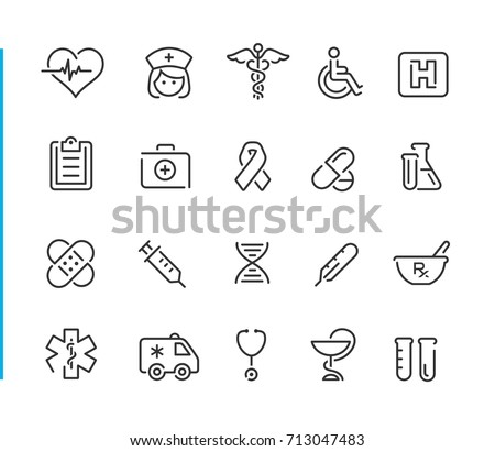 Medical Icon Set  Royalty-Free Stock Photo #713047483
