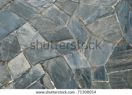 pattern of decorate Slate Stone wall #71308054