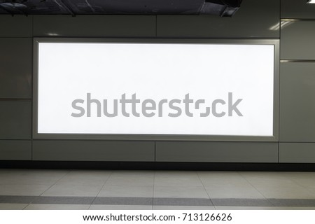 Large blank billboard on a street wall, banners with room to add your own text #713126626