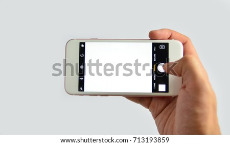 camera apps displayed on the screen of smartphone