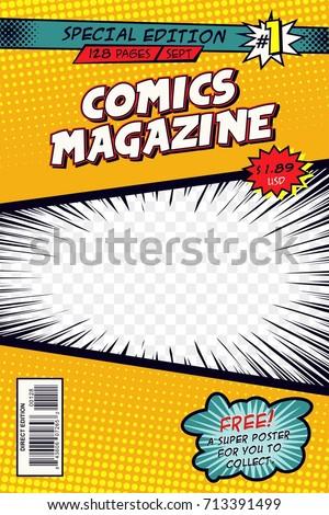 Comic book cover. Vector art.