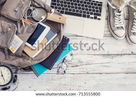 Backpack with school supplies #713555800