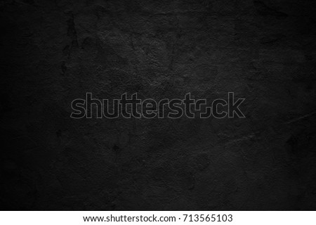 Old black background. Grunge texture wallpaper. Distressed wall. Rustic style. Concrete