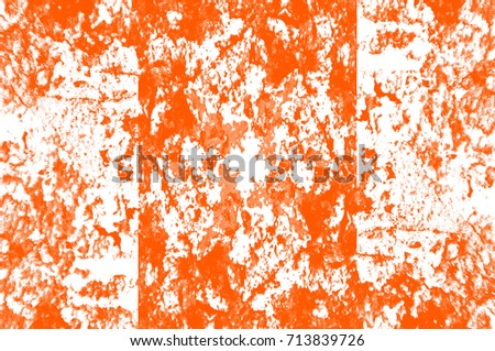 Abstract grunge orange dark stucco wall background. Splash of orange, black, white paint. Art rough stylized texture banner, wallpaper. Backdrop with spots, cracks, dots #713839726