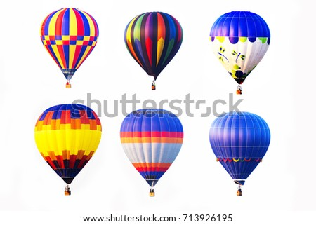 hot air balloons on white background #713926195